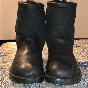 UGG Leather and Suede 5485 black